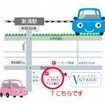 提携駐車場 アルモ笹口 地図